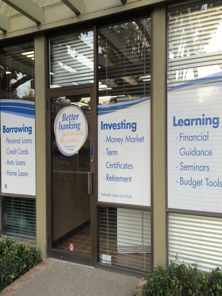 Window graphics for bank branches San Diego