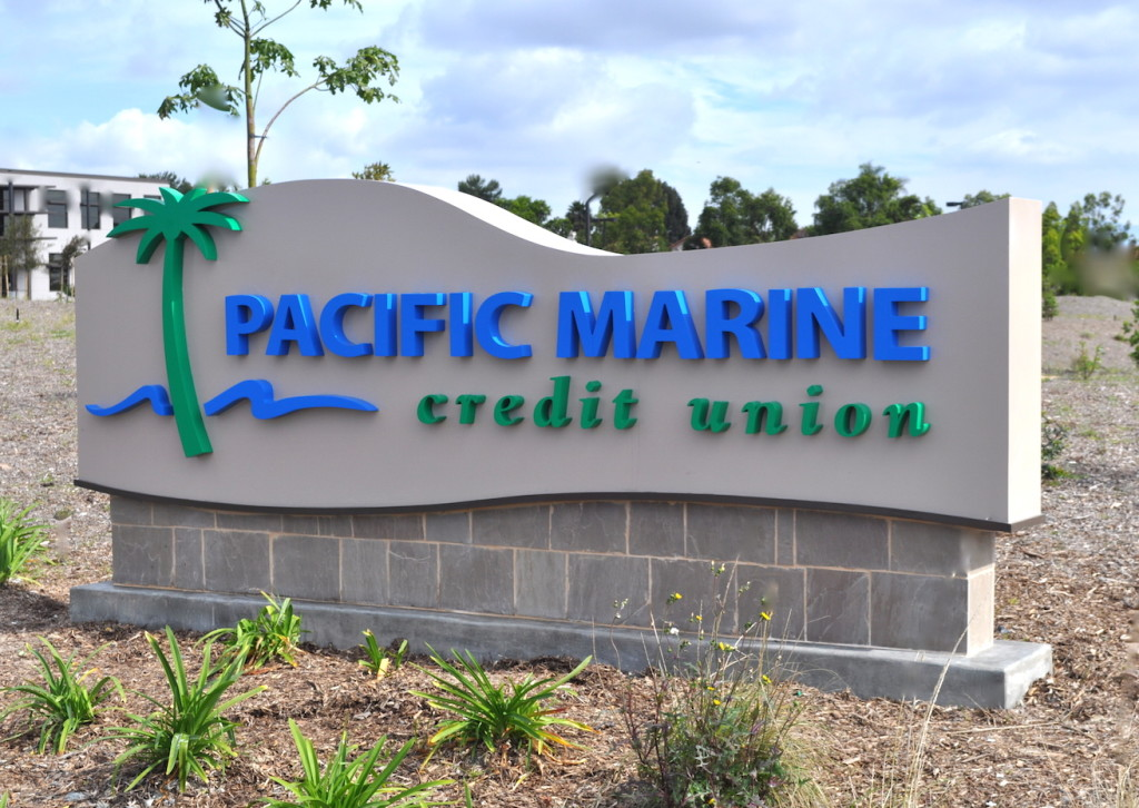 monument sign with base custom signage company san diego creative