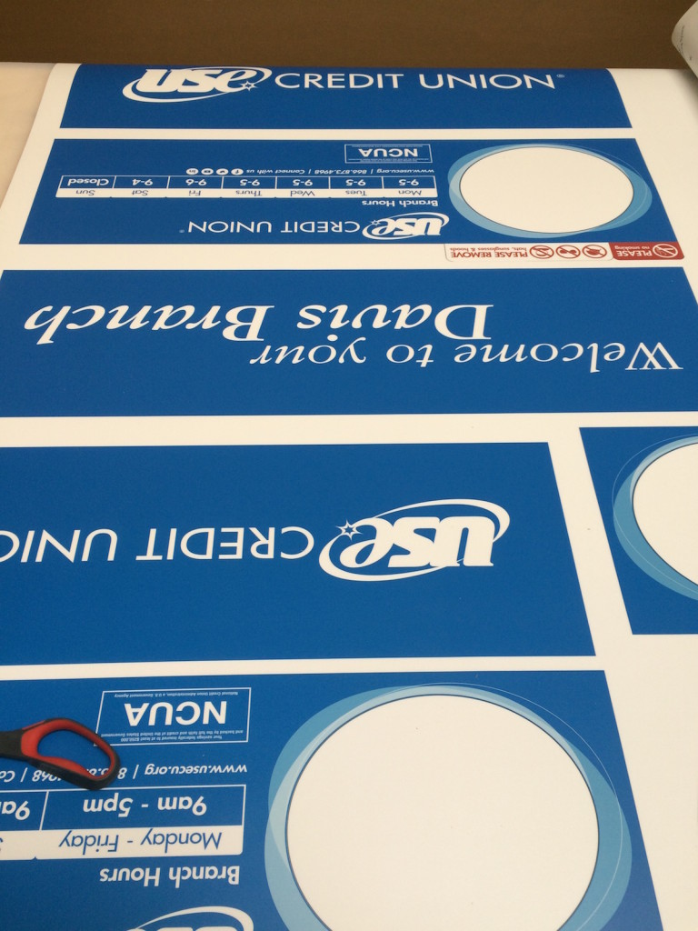 Creative Jucies Signage graphics fresh off the printer