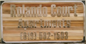 the making of a sandblast sign the wood after bieng sandblasted